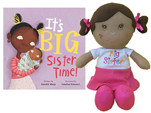"""Ganz Black Big Sister Doll 11"""" Dark Skinned with Dark Hair Play Doll for Little Girls and Toddlers 