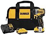 DEWALT DCF601F2 Xtreme 12V Max Brushless 1/4' Cordless Screwdriver Kit