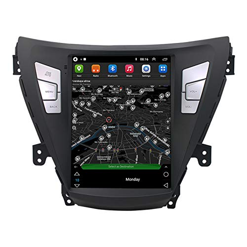 ADMLZQQ 9.7 Pollici Android 10.0 autoradio Stereo per Auto, per Hyundai Elantra 2011-2013, DSP Carplay Navigazione GPS con Google Play/Mappa Online/Uscita Video/Fotocamera Posteriore,WiFi 1+32