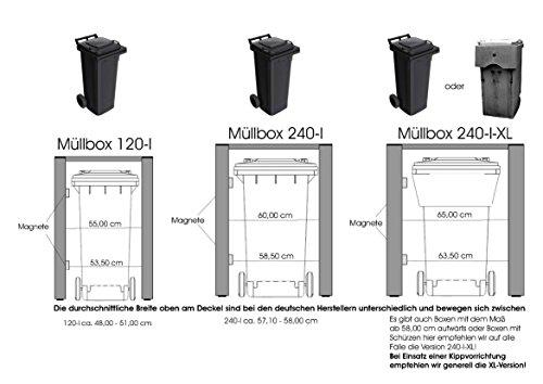 Mülltonnenverkleidung Mülltonnenbox Müllboxen Metall - 7