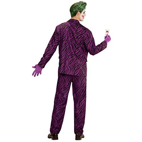 Traje Adulto Malvado - S (ES 48) | Disfraz Hombre Joker Malo | Traje Halloween Psicpata | Disfraz Payaso Asesino