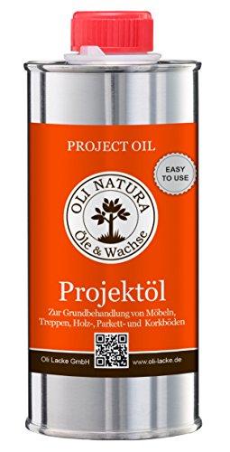 OLI NATURA Öle & Wachse A01370_TA Projektöl Holzöl, Natur, 0,25 Liter