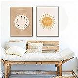 LIUYUEKAI Saludo al sol Surya Namaskar Yoga Buda Cita Arte de la pared Póster Impresiones en lienzo Cuadros de pintura para la decoración de la pared del hogar-40x60cmx2 Sin marco