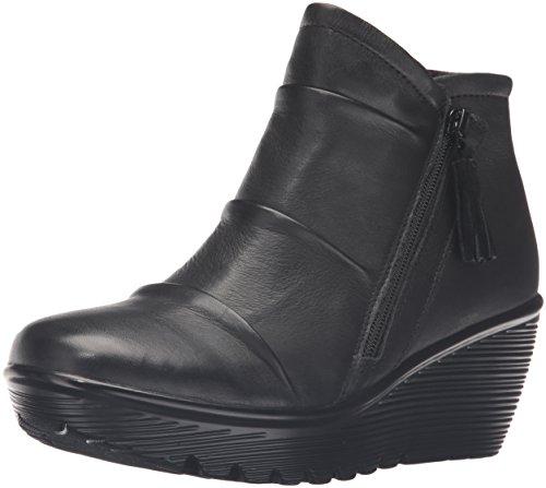 Skechers Women's Parallel-Double Trouble Ankle Bootie,Black,10 M US