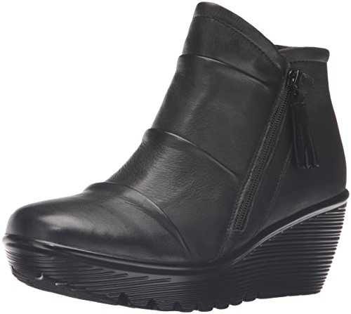 Skechers Women's Parallel-Double Trouble Ankle Bootie,Black,9 M US