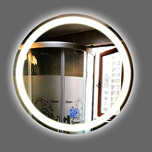 Espejo De BañO Led Iluminado, Espejo De Vanidad Redondo Moderno Sin Marco Montado En La Pared con Sensor De Control TáCtil, A Prueba De Polvo