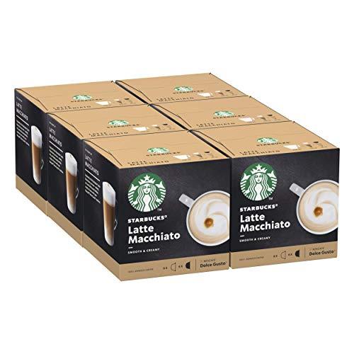 STARBUCKS Latte Macchiato by Nescafe Dolce Gusto Kaffeekapseln, 72 Kapseln ( 6 x 12, 36 servings)