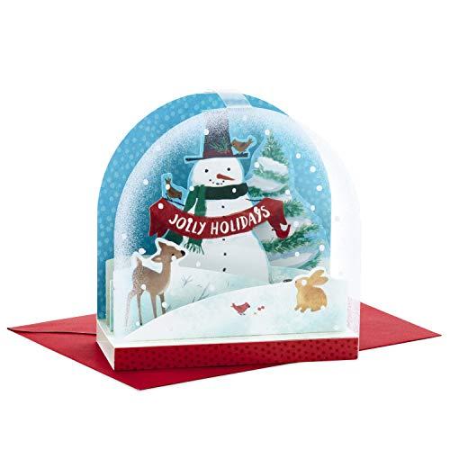 Hallmark Paper Wonder Pop Up Christmas Card Snow Globe (Snowman)