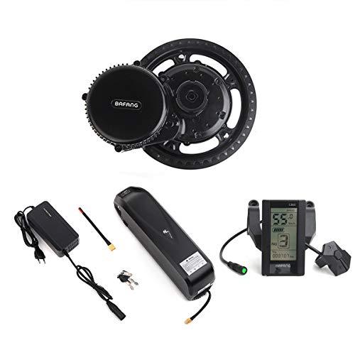 Bafang 250W Mid Drive BBS01B 36V Ebike Mid Motor Conversion Kit con batería incluida Pantalla LCD y Cargador Opcionales de 10Ah / 17.4Ah