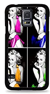 Warhol Style Marilyn Monroe Portait Black Hardshell Case for Samsung Galaxy S5