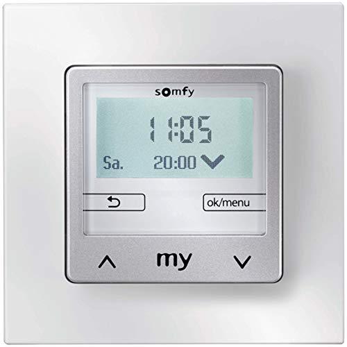 Somfy Chronis Smoove IB+ 1805285 Pure White+ S.Rahmen Bussystem-Zeitschaltuhr 3660849544454