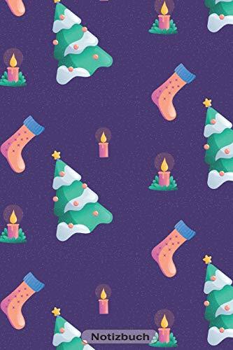 Notizbuch: Weihnachtskerzen 110 Seiten Journal liniertes Papier | glänzendes Softcover | Notizbuch, Schreibheft, Geschenkidee