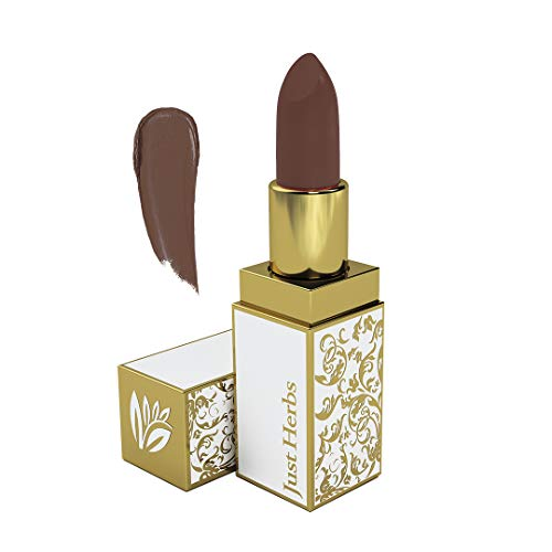 Just Herbs Herb Enriched Ayurvedic Lipstick (Medium Nude Brown, Shade no. 12)