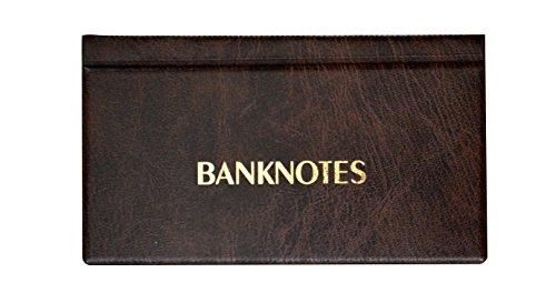 Collector SAMMLERALBUM FÜR BANKNOTEN Notizen Banknotenalbum mit 20 Seiten 8x17cm (Braun)