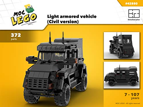 Light armored vehicle (Civil version) (Instruction Only): MOC LEGO (English Edition)