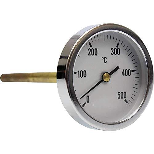 Termómetro para horno de leña, escala de 0 a 500ºC con