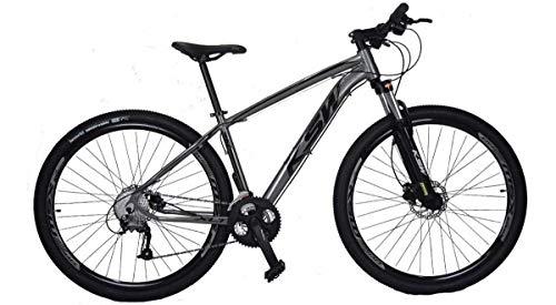 Bicicleta aro 29 KSW Câmbios Shimano 24V Freio Hidraulico (GRAFITE+PRETO, 17)