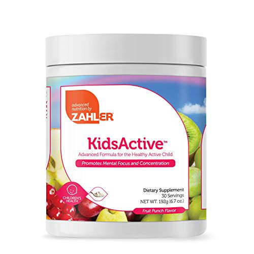 Zahler KidsActive, Kids Concentration Supplement, All Natural Children's Vitamin Supporting Focus and Attention, Certified Kosher, 30 Servings