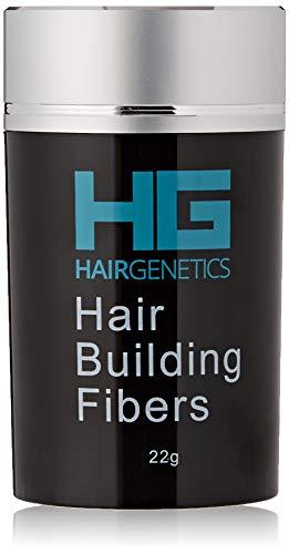 Hair Genetics® Advanced Keratin Haarfasern Large 22g Spender natürlich dick und strukturiert Professionelle Faserqualität Haarausfall-Concealer-Fasern Für Männer und Frauen (Mittel braun)