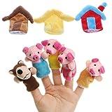 Ideapark 8pcs Juguete de Dedos Finger Marionetas de Mano Animales de Dibujos...