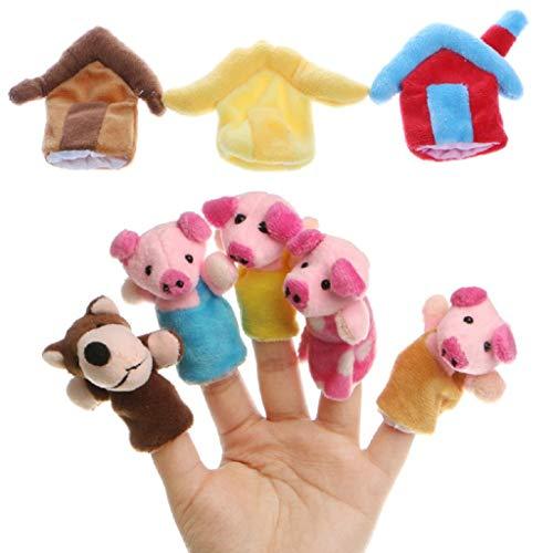 Ideapark 8pcs Juguete Dedos Finger Marionetas Mano
