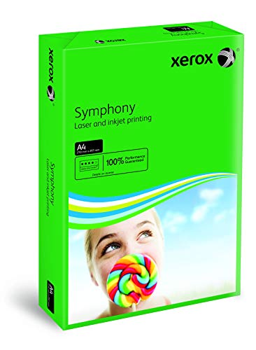 Xerox 003R93951 gekleurd printpapier kopieerpapier Symphony intensief DIN A4, 80 g/m2, 500 vellen per pak, donkergroen