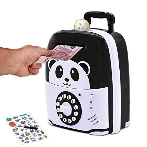 Digitale Spardose für Kinder,Elektronische Spardose mit Passwort und Licht,Große elektrische Sparbüchse für Münzen und Scheine Toller Mini-ATM,Geschenke Zum Weihnachten und Geburtstag