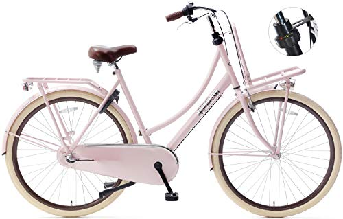 Unbekannt 28 Zoll Damen Hollandrad Popal Daily Dutch Basic+ 2800 3 Gang, Farbe:pink, Rahmengröße:57cm