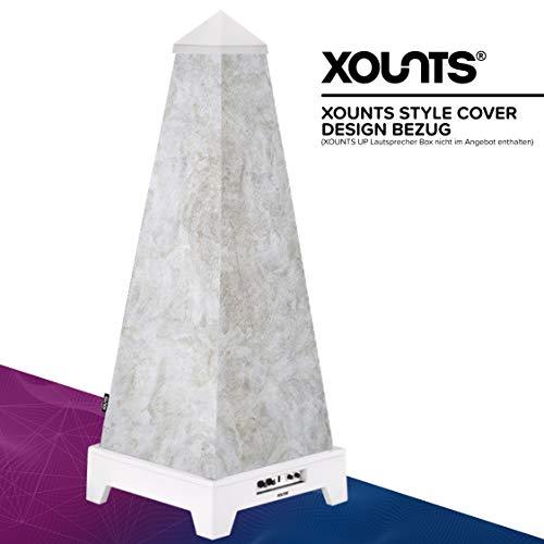 XOUNTS Style Cover 'Concrete' – Premium Flies-Cover für XOUNTS UP Musikanlage – Design-Cover in schlichten und natürlichen Farben – Als Zubehör für XOUNTS UP Lautsprecher