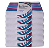 Pack of 6 - Hospital Newborn Baby Receiving Blankets, Warm, 100% Cotton, Pink and Blue Stripes, 30x40