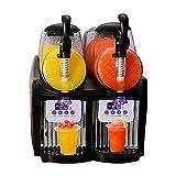 Máquina Para Hacer Granizados de Hielo Comercial, Máquina Para Hacer Bebidas de Margarita Congelada de 300 Vatios, Licuadora de Batidos de 2.5L * 2, Máquina Para Hacer Granizados de Hielo