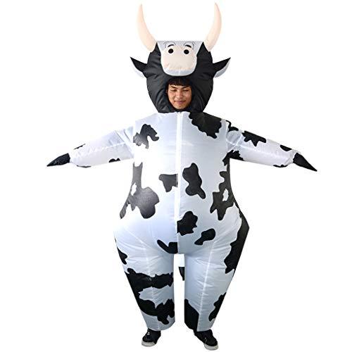 joyMerit Erwachsener Aufblasbarer Kuh Kostüm Overall Halloween Partei Abendkleid