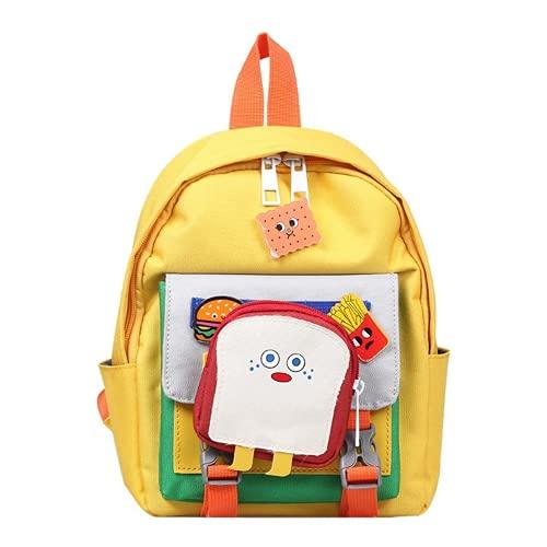 Bolso para niños primavera y verano color hit color desmontable mini mochila jardín de infantes mochila escolar (1,25 * 20 * 11CM)