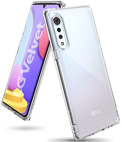 Ringke Fusion Diseñado para Funda LG Velvet, Carcasa Protección Resistente Impactos TPU + PC Funda para LG Velvet - Clear
