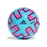 Adidas UNIFO CLB, Pallone da Calcio Uomo, Bright Cyan/Shock Pink/Black, 5