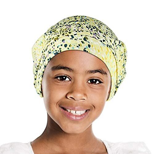 Alnorm Girls Satin Lined Turban Slumber Cap Slouchy Skull Hat Cotton Bonnet