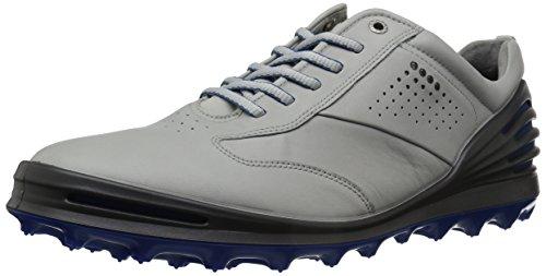 ECCO Men's Cage Pro Golf Shoe, Concrete/Bermuda Blue, 8 M US