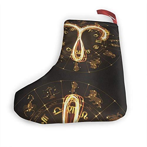 JONINOT Stier Symbol 10 in Weihnachtsstrümpfen Xmas Kamin Hängende Strümpfe Dekoration für Weihnachtsfeier Zubehör (2 Stück)