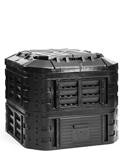 myGardenlust Komposter - Schnellkomposter aus Kunststoff - Thermokomposter als praktisches Stecksystem - Kompostierer stabil und hochwertig - Composter für Garten-Abfälle - 600L