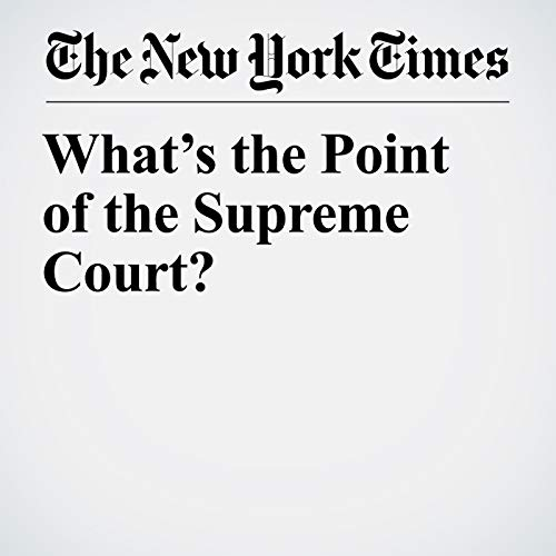 What's the Point of the Supreme Court? copertina
