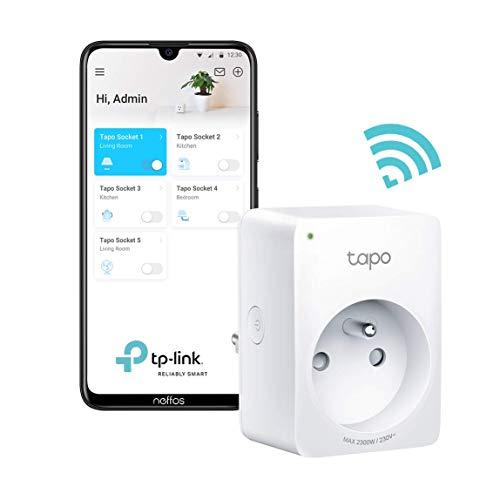 TP-Link Tapo P100 Prise Connectée WiFi,Prise française,Compatible avec Amazon...