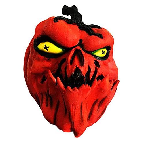 WYYUE Máscara De Calabaza De Halloween, Máscara De Calabaza Horro 2021, Máscaras De Cosplay De Látex De Terror Aterrador, Mascaras Halloween para Fiesta De Halloween Disfraz De Cosplay