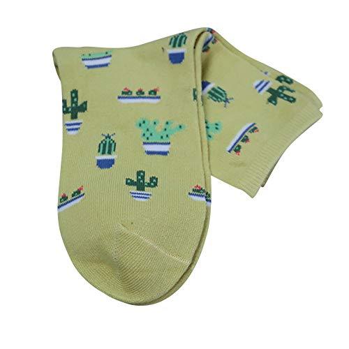 Pingtr Calcetines de impresión de cactus Calcetines para hombres y mujeres, vuelo, viajes, trabajo, enfermeras, embarazo, nacimiento, ejercicio, uso médico, recuperación, alivio de granos