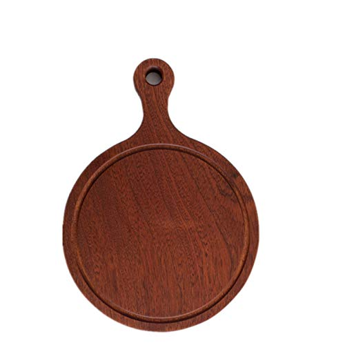 GYCZC Round Mold Proof Steak Pizza Wooden Tray Western Bread Wooden Tray Baby Food Supplement Cut Fruit Tea Cup Saucer