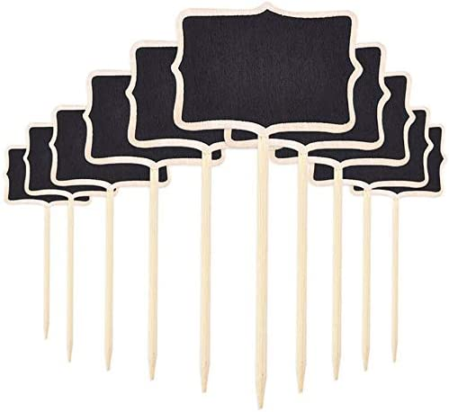 10Pcs We Over item handling ☆ OFFer at cheap prices Set Wooden Garden Labels Gardening So Plant Classification