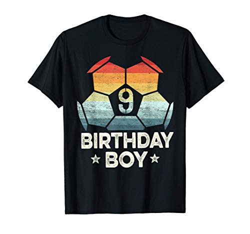 9 Year Old Soccer Player Gifts 9th Birthday Boy Ninth Bday T-Shirt