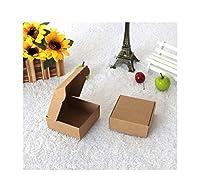 クリニーク/ロットブラッククラフト紙箱飛行機スタイル小さなクラフトギフトボックスキャンディボックスホワイト包装プレゼントカートンボックス、ブラウン、5.5X5.5X2.5cm