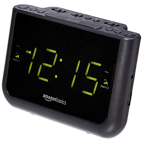 comprar radio reloj despertador digital fabricante Amazon Basics