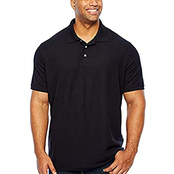 The Foundry Big & Tall Supply Co Mens Short Sleeve Polo Shirt Big and Tall  Black 3X-Large Tall