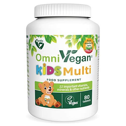 Nordic Nutraceuticals OmniVegan Kids Multi 22 nutrients 80 chewable Tablets